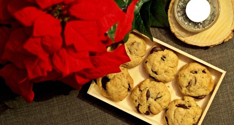 čokoládové sušenky s rozmarýnem