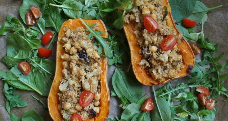 máslová dýně, quinoa
