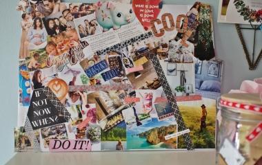vision board, nástěnka snů, přání