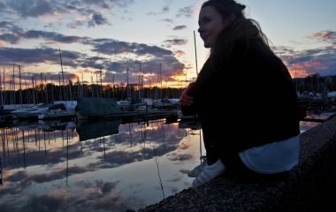 západ slunce v Oslu
