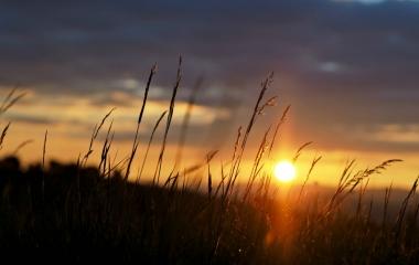 západ slunce na Letavách